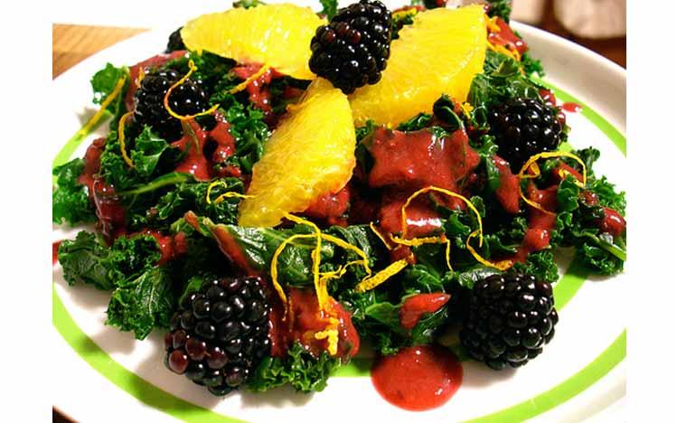 Caties-Organics-Whole-Plant-Foods-Kale-Salad-with-Orange-Blackberry-Vinaigrette